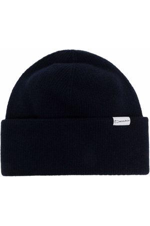 Woolrich Men Beanies - Logo-patch knitted beanie