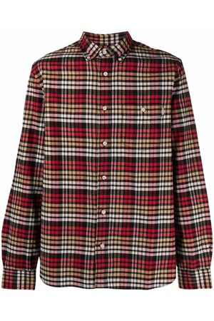 Woolrich Checked cotton long-sleeve shirt