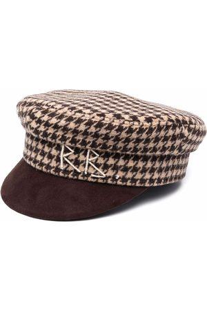 Ruslan Baginskiy Houndstooth print baker boy hat