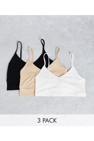 Miss Selfridge 3 pack v neck bra tops-Multi