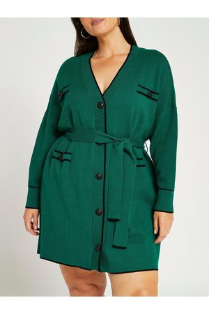 River Island Tipped Belted Cardigan