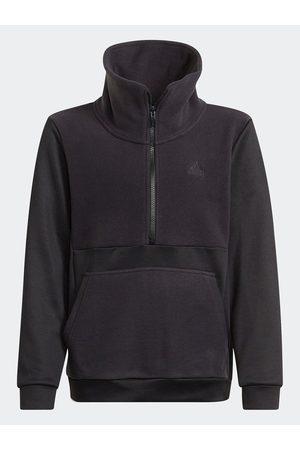 adidas Designed To Move Fleece Half Zip Top (Gender Neutral)
