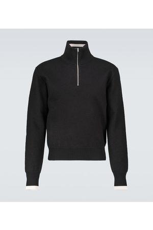 Maison Margiela Men Turtlenecks - Half-zipped wool sweater