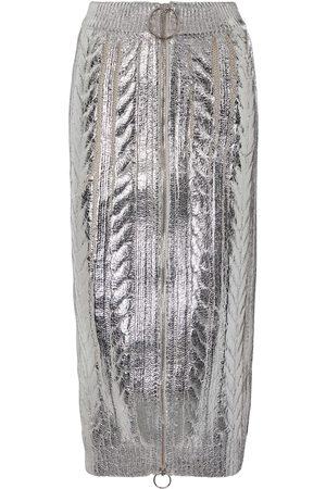 Balmain Metallic midi skirt