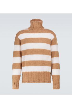Fendi Striped mohair-blend sweater