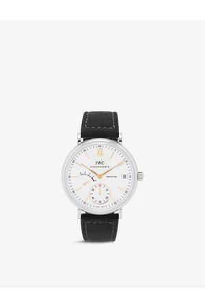 IWC SCHAFFHAUSEN Men Watches - IW510103 Portofino stainless-steel and suede automatic watch