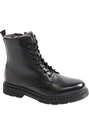 5th Avenue Women Ankle Boots - Leather Fleece Lined Ankle Boots
