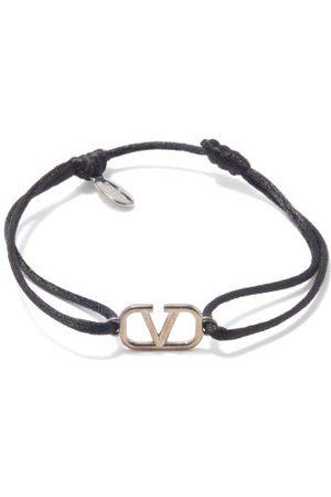 VALENTINO GARAVANI V-logo Cord Bracelet - Mens