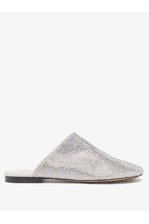 Bottega Veneta Crystal-embellished Suede Backless Loafers - Womens