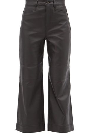 PROENZA SCHOULER WHITE LABEL Leather Wide-leg Trousers - Womens