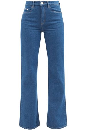 Wandler Women Wide Leg Trousers - Daisy Flared-leg Jeans - Womens - Mid Denim