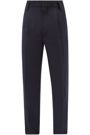 FEAR OF GOD Men Trousers - High-rise Pleated Wool Trousers - Mens - Navy