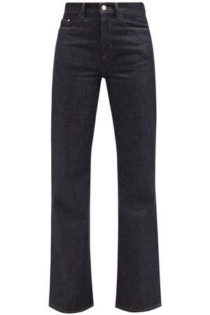 Wandler Daisy Flared-leg Jeans - Womens - Dark Denim