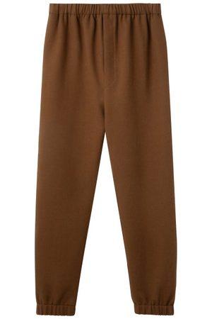 LEMAIRE Men Trousers - Drawstring-waist Fleece Track Pants - Mens