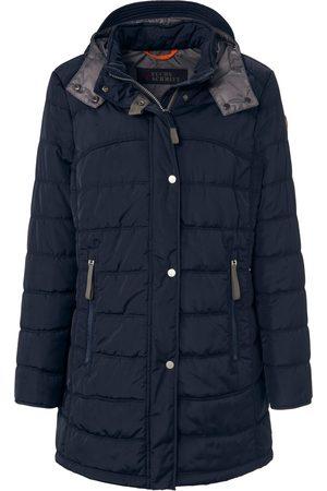 Fuchs Schmitt Long quilted jacket removable hood size: 14