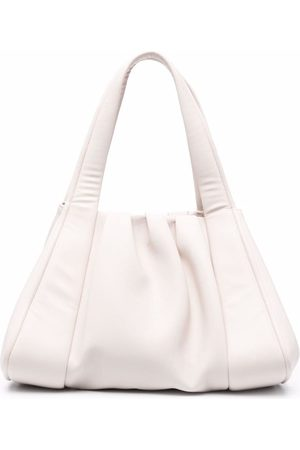 THEMOIRÈ Ruched artificial leather tote bag - Neutrals