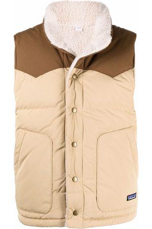 Patagonia Men Body Warmers - Bivy hooded reversible gilet - Neutrals