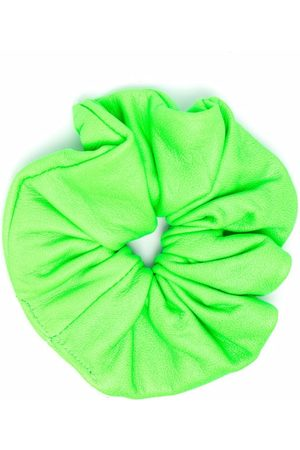 Manokhi Women Hair Accessories - Ruched leather hair scrunchie