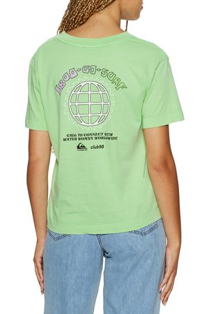 Quiksilver The Crop s Short Sleeve T-Shirt - Ash