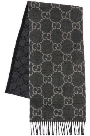 Gucci Men Scarves - Gg Jacquard Wool Knit Scarf