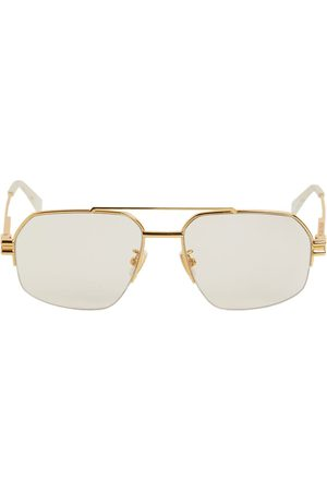 Bottega Veneta Pilot Metal Sunglasses