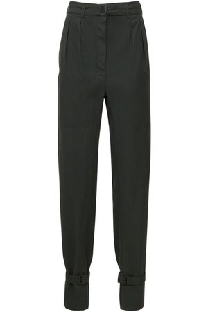 LEMAIRE Dyed Cotton Pants W/ Straps