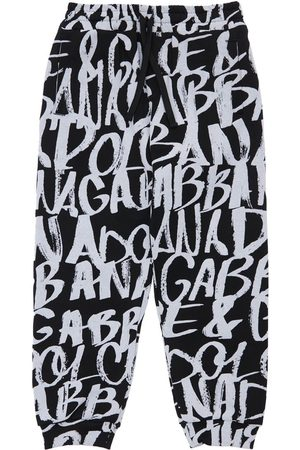 Dolce & Gabbana All Over Logo Print Cotton Sweatpants