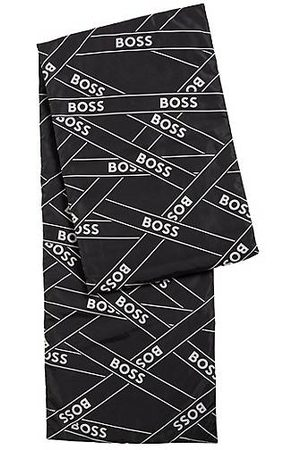 HUGO BOSS Quilted scarf with logo artwork