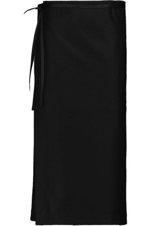 Jil Sander Belted wool midi skirt