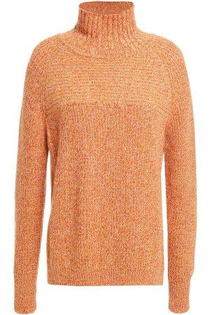 Charli Women Turtlenecks - Woman Oversized Mélange Ribbed-knit Turtleneck Sweater Tomato Size XS