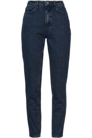 American Vintage Women Straight - Woman High-rise Straight-leg Jeans Dark Denim Size 25