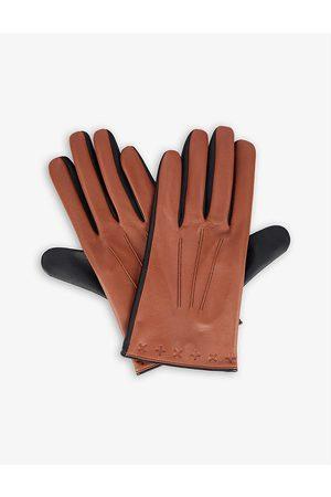 Dents Men Gloves - Lando branded leather touchscreen gloves