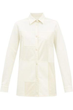 Jil Sander Patchwork Wool-twill Shirt - Womens