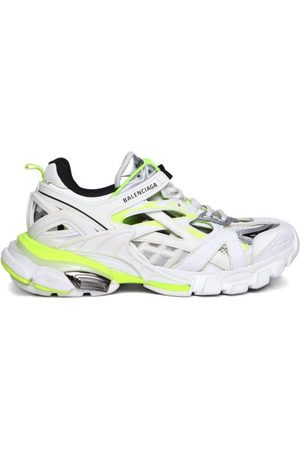 Balenciaga Women Trainers - Track Panelled Faux-leather And Mesh Trainers - Womens - Multi