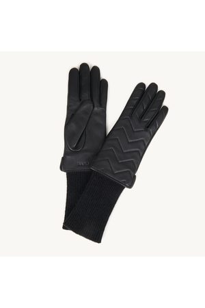 Sandro Women Gloves - Quilted mixed-material gloves