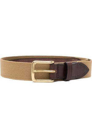 Anglozine Leather-trim belt