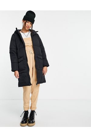 Object Recycled longline padded jacket in