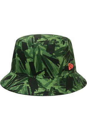 New Era Cotton Camo Tapered Bucket Hat