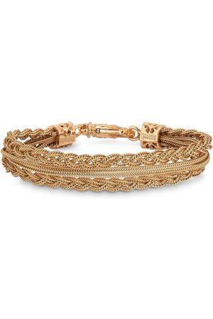 EMANUELE BICOCCHI Plated double braided bracelet