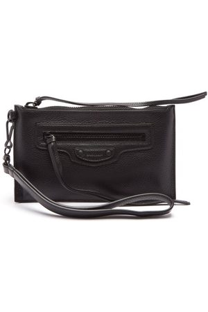 Balenciaga Men Suitcases - Neo Classic Grained-leather Pouch - Mens