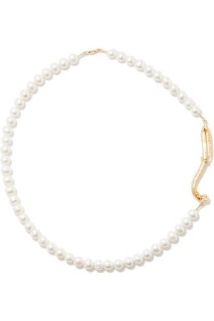 Alighieri The Nostalgia Pearl & 24kt -plated Necklace - Mens