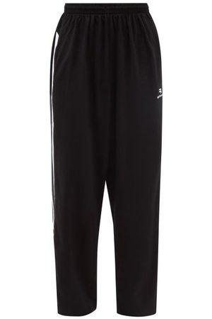 Balenciaga Men Trousers - Striped Cotton-jersey Track Pants - Mens