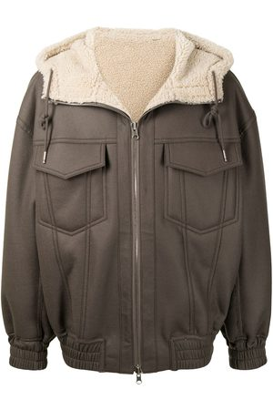 SONGZIO X Jungnam Bae cocoon shearling-lined jacket
