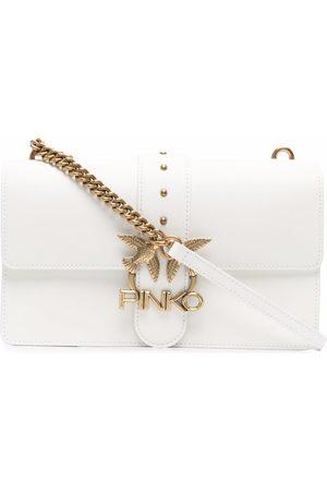 Pinko Love leather shoulder bag