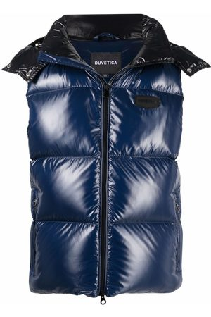 Duvetica Logo-patch feather-down padded gilet