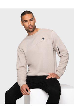 Threadbare Men Sweatshirts - Mens Karlo Putty Plain Sweatshirt