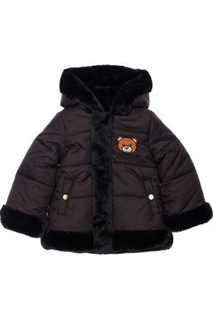 Moschino Reversible Nylon & Faux Fur Jacket