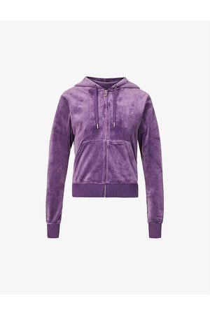 Juicy Couture Robertson logo-embroidered velour hoody