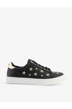 Dune Women Trainers - Ecliptic star-embroidered faux leather trainers