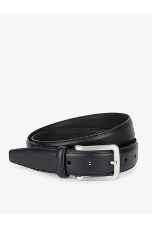 Dents Logo-engraved leather belt